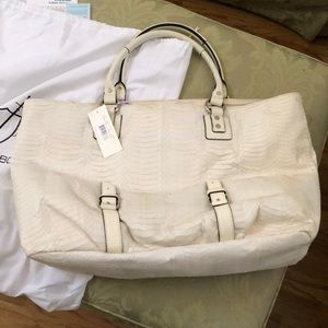 Leonello Borghi snakeskin & leather bag